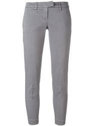 Dondup Cropped Trousers Grey