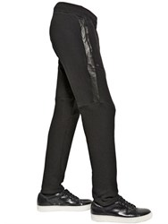 Giorgio Brato Nappa Leather And Cotton Jogging Pants