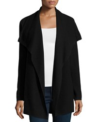 Design History Cashmere Thermal Knit Cozy Cardigan Onyx