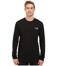 The North Face Long Sleeve Red Box Tee Tnf Black Mid Grey Men's Long Sleeve Pullover