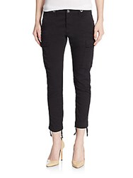 Hudson Cropped Skinny Cargo Pants Black