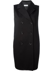 Alberto Biani Double Breasted Waistcoat Black