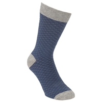 Selected Homme Texture Socks One Size Blue Grey