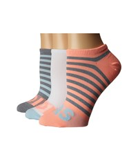 Adidas Adistripe 3 Pack No Show Grey Clear Onix Marl Ice Blue Sun Glow White Women's No Show Socks Shoes Multi