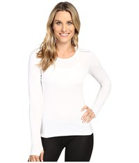 Brooks Steady Long Sleeve Top White Women's Long Sleeve Pullover