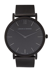 Larsson And Jennings Chain Metal Black Brass Watch