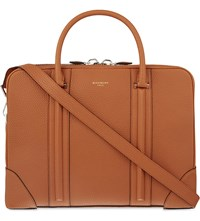 Givenchy Grained Leather Briefcase Hazel