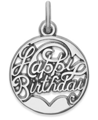 Rembrandt Charms Sterling Silver Happy Birthday Charm