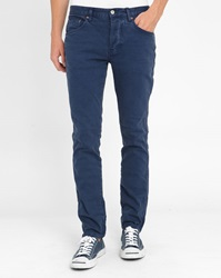 Knowledge Cotton Apparel Grey 5 Pocket Stretch Slim Fit Trousers