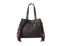 Betsey Johnson Fringe Party Tote Black Tote Handbags