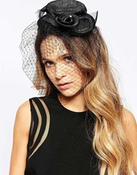 Neve And Eve Top Hat Fascinator Black