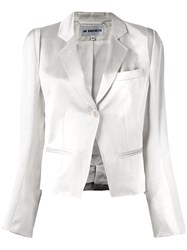 Ann Demeulemeester Blanche Glossy Effect Cropped Jacket White