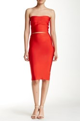 Wow Couture Bodycon Skirt Red