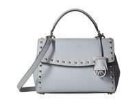 Michael Michael Kors Ava Stud Small Top Handle Satchel Dusty Blue Satchel Handbags