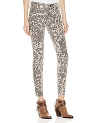 Current Elliott Skinny Ankle Jeans In Scooter Leopard Print