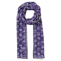 East Embroidered Sequin Scarf Aubergine