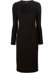 Joseph Long Sleeve Fitted Dress Black
