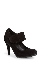 Pedro Garcia 'Yizze' Mary Jane Pump Women Black Suede
