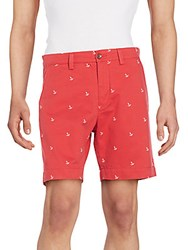Gant Anchor Embroidered Bermuda Shorts Rosso
