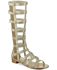 Marc Fisher Lexxi Tall Gladiator Sandals Women's Shoes Gold