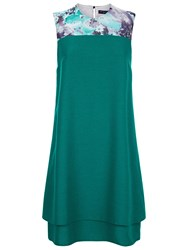 Hotsquash Double Layered Dress In Coolfresh Turquoise