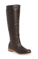 Sole Society Women's Hawn Knee High Boot Brown Leather