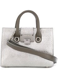 Jimmy Choo Small 'Riley' Tote Metallic