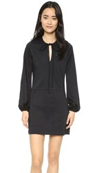 Matin Full Sleeve Tie Dress Black