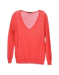 Peacock Blue Long Sleeve Sweaters Coral