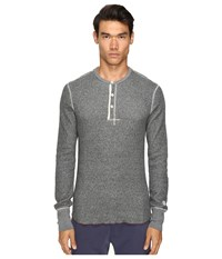 Todd Snyder Champion Henley Black Mix Men's Long Sleeve Pullover