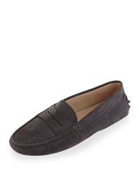 Tod's Suede Gommini Moccasin Gray Size 40.5B 10.5B