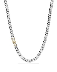 David Yurman Buckle Chain Necklace With Gold 21 Silver Gold