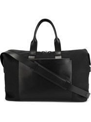 Troubadour Fabric And Leather Weekender Black