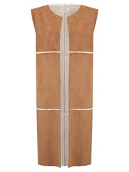 Numph Quintina Faux Shearling Gilet Toffee