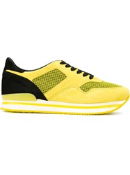 Hogan Flatform Sneakers Yellow And Orange