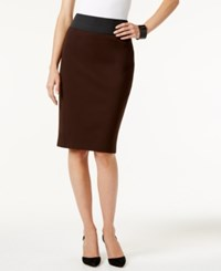 Inc International Concepts Curvy Fit Pencil Skirt Only At Macy's Coffee Bean