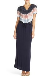 Women's Fraiche By J Tie Dye Drape Neck Maxi Dress