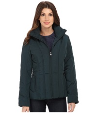 Calvin Klein Short Down Coat W Untrimmed Hood Peacock Women's Coat Multi