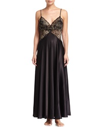 Jonquil Vivian Lace Top Long Gown Black Gold
