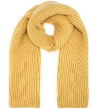 Acne Studios Hana Wool And Mohair Blend Scarf Yellow