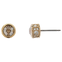 Cachet London Swarovski Crystal Pave Stud Earrings Yellow Gold