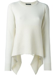 Alexander Mcqueen Loose Fit Jumper White