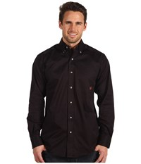 Ariat Solid Twill Shirt Black Men's Long Sleeve Button Up