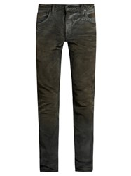 Mastercraft Union Slim Tapered Leg Washed Resin Jeans Grey
