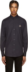 Dolce And Gabbana Navy Embellished Bee Shirt
