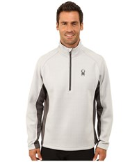 Spyder Outbound Half Zip Mid Weight Core Sweater Cirrus Polar Polar Men's Sweater White