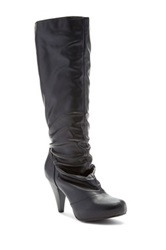 Charles Albert Tall Classic Heel Boot Black