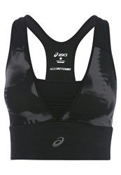 Asics Fuzex Sports Bra Grey Splash Dark Gray