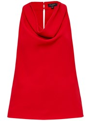 Ted Baker Areio Cowl Neck Top Bright Red