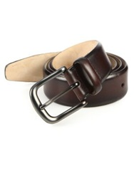 Saks Fifth Avenue Burnished Leather Belt Red Green Blue